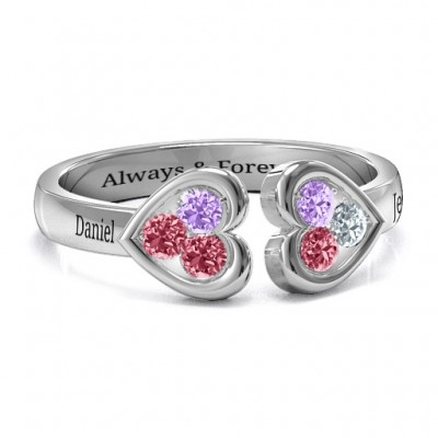 Heart To Heart Wraparound Ring - By The Name Necklace;