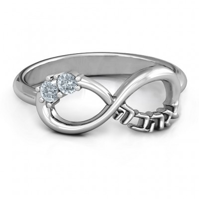Infinity Ahava Ring - By The Name Necklace;