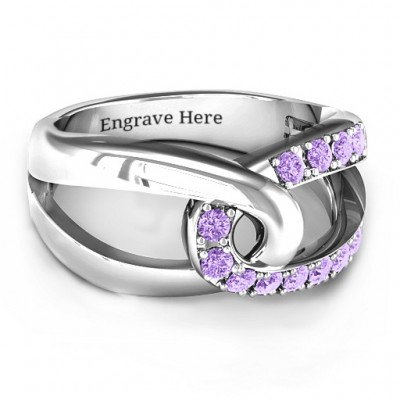 Infinity Embrace Ring - By The Name Necklace;