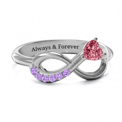 Infinity In Love Ring with Accents - By The Name Necklace;