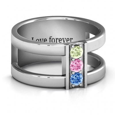 Layers Of Love Ring - By The Name Necklace;