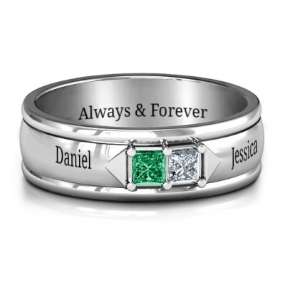 Men's Timeless Romance Ring - By The Name Necklace;