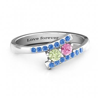 Moment We Met Two Stone Ring  - By The Name Necklace;