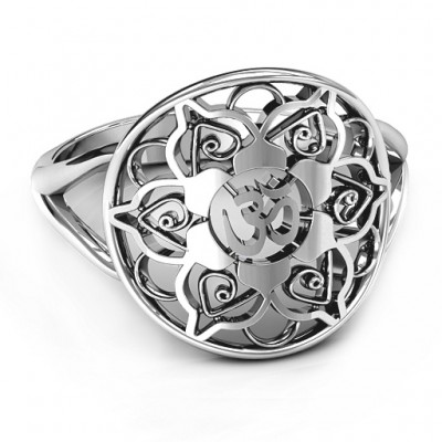 Om Mandala Ring - By The Name Necklace;