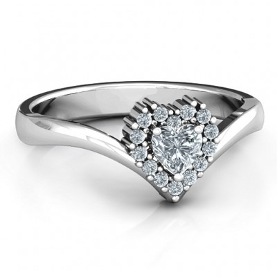 Peak of Love Ring - By The Name Necklace;