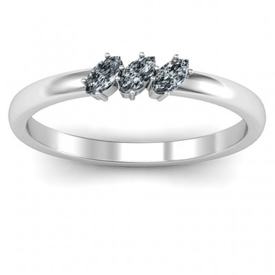 Petit Marquise Trio Ring - By The Name Necklace;