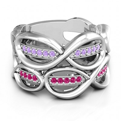 Ravishing Love Infinity Ring - By The Name Necklace;