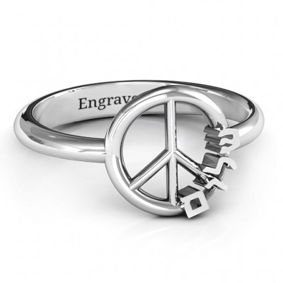 Shalom Peace Ring - By The Name Necklace;