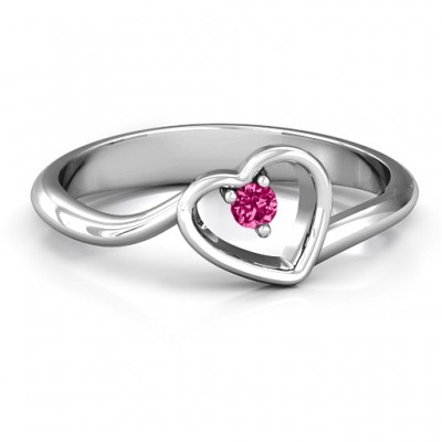 Single Heart Bypass Ring - By The Name Necklace;