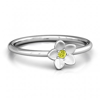 Stackr 'Azelie' Flower Ring - By The Name Necklace;