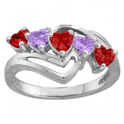 Starburst Heart Ring - By The Name Necklace;