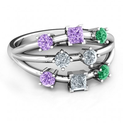 Sterling Silver  Cosmic Energy  Ring - By The Name Necklace;