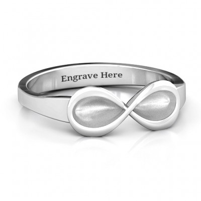 Sterling Silver  Vogue  Infinity Ring - By The Name Necklace;