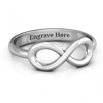 Sterling Silver Classic Infinity Ring - By The Name Necklace;