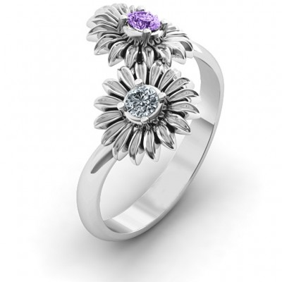 Sun Flowers Ring - By The Name Necklace;