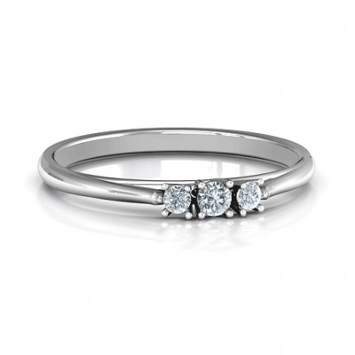 Trinity Ring on Classic Band - By The Name Necklace;