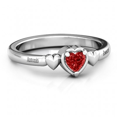 Triple Heart Ring - By The Name Necklace;