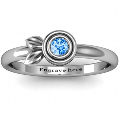 Twin Leaf Ring - By The Name Necklace;