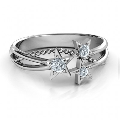 Twinkling Starlight Ring - By The Name Necklace;