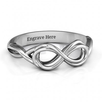 Wired for Love Infinity Ring - By The Name Necklace;