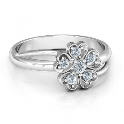 With Love and Flowers Ring - By The Name Necklace;