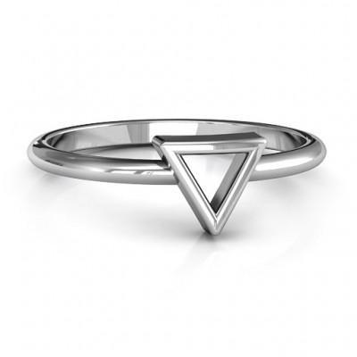 Your Best Triangle Ring - By The Name Necklace;