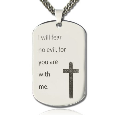 Military Dog Tag Name Necklace - By The Name Necklace;