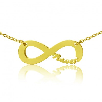 Solid Gold 18ct Infinity Name Necklace - By The Name Necklace;