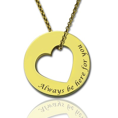 Always Be Here For You Promise Necklace - By The Name Necklace;