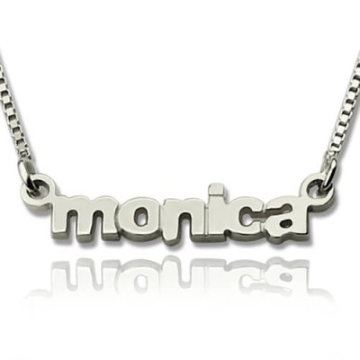 My Tiny Name Necklace Custom Sterling Silver - By The Name Necklace;