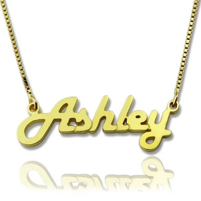 Retro Stylish Name Necklace 18ct Gold Plated - By The Name Necklace;