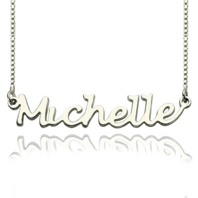 Handwriting Name Necklace Sterling Silver - By The Name Necklace;