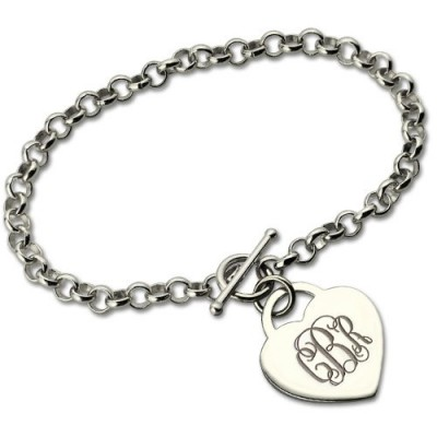Personalised Monogram Charm Bracelet For Her Silver - By The Name Necklace;