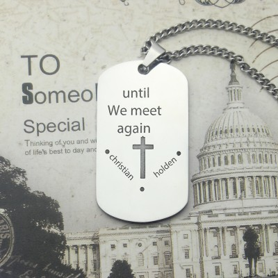 Remembrance Dog Tag Name Necklace - By The Name Necklace;