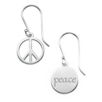Asymmetric Earrings in Sterling Silver - By The Name Necklace;