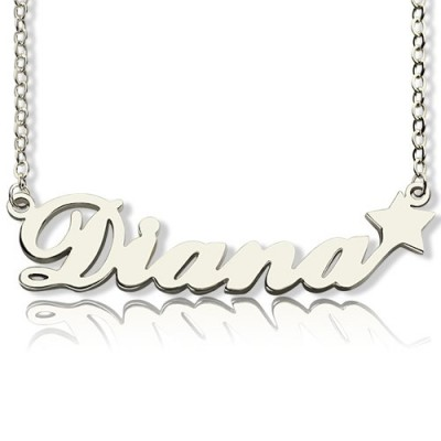 Personalised Letter Necklace Name Necklace Sterling Silver - By The Name Necklace;