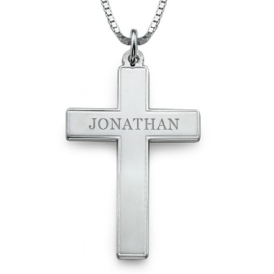 Men's Personalised Cross Necklace - By The Name Necklace;