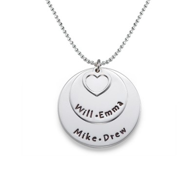 Family Necklace in Sterling Silver - By The Name Necklace;