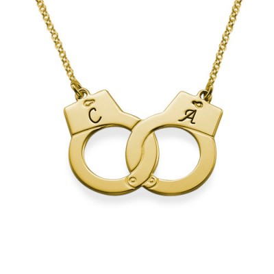 Handcuff Necklace in 18ct Gold Plating - By The Name Necklace;
