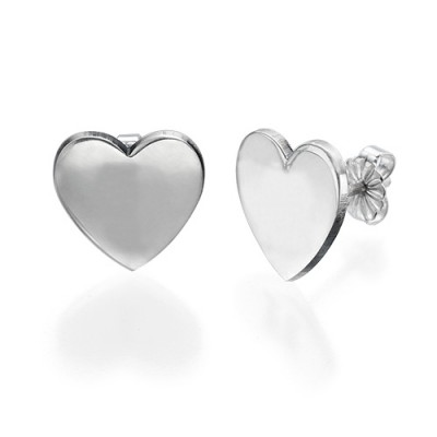 Heart Initial Earrings - By The Name Necklace;