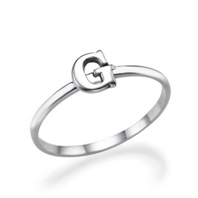 Initial Ring in Sterling Silver - By The Name Necklace;