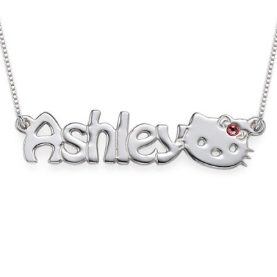 Kitten Nameplate Necklace for Girls - By The Name Necklace;