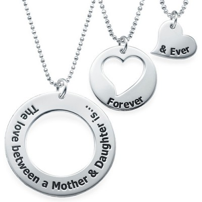 Mother Daughter Jewellery - Three Generations Necklace - By The Name Necklace;