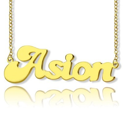 Ghetto Cute Name Necklace 18ct Gold Plated - By The Name Necklace;