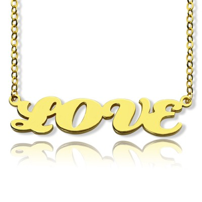 Solid Gold 18ct Capital Puff Font Name Necklace - By The Name Necklace;