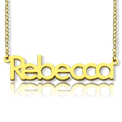 Solid Gold Rebecca Style Name Necklace-18ct - By The Name Necklace;
