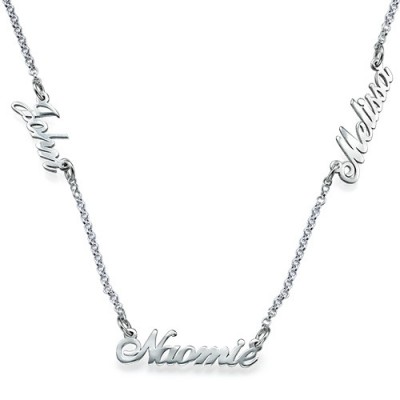 Personalised Jewellery for Mums - Multiple Name Necklace - By The Name Necklace;