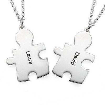Personalised Silver Puzzle Necklace - Handcrafted By My Engraved™