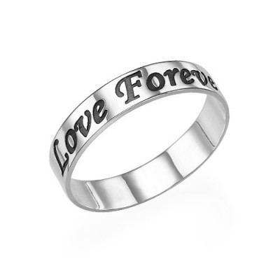 Script Sterling Silver Promise Ring - By The Name Necklace;
