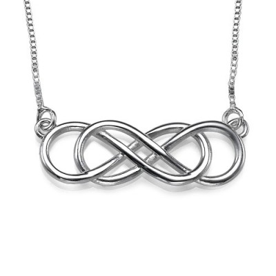 Silver Double Infinity Necklace - By The Name Necklace;